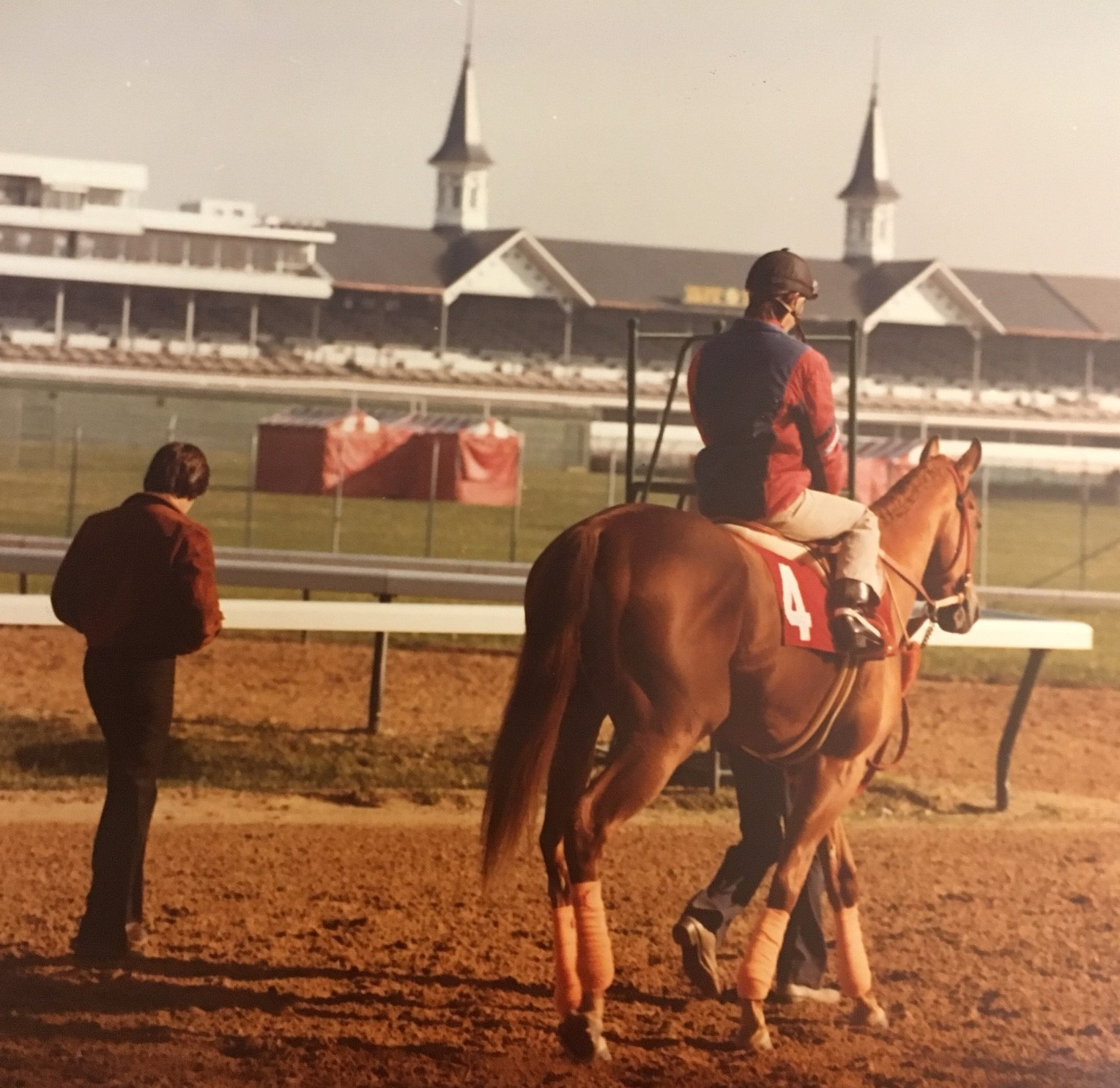 Affirmed, workout before the 1978 Kentucky Derby