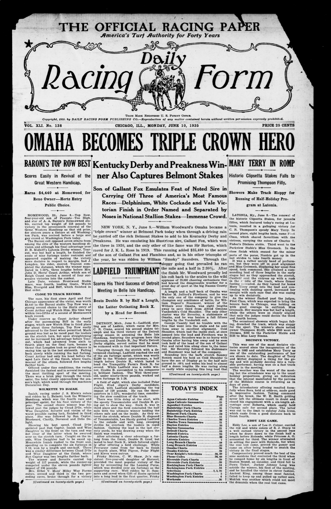 From the Keeneland Library Archives: The Triple Crown
