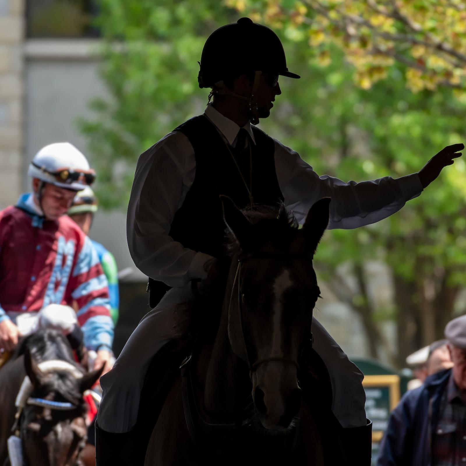 Horses Heading to Track