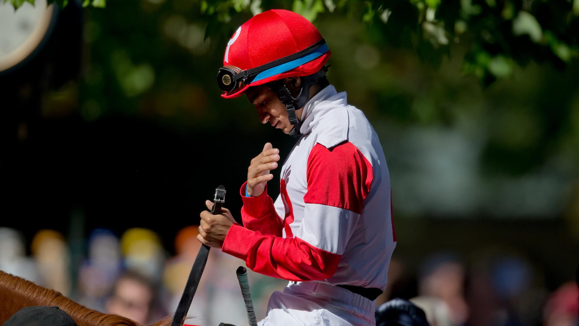 Jockey at Keeneland