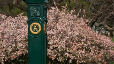 Keeneland gate post