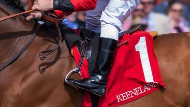 Keeneland saddle towel