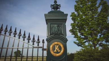 Keeneland gate post