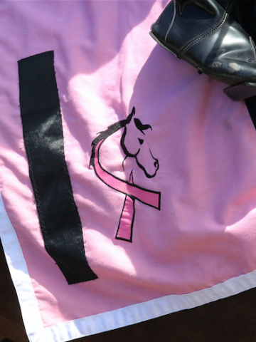 Horses and Hope Pink Day saddlecloth