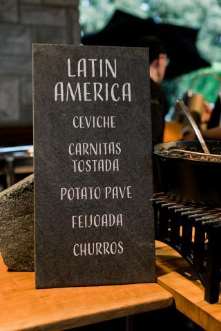 Latin America menu