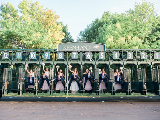 Kristen & Jonathan Bridal Party in Starting Gate