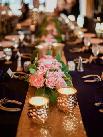 Keeneland Wedding Reception Centerpieces
