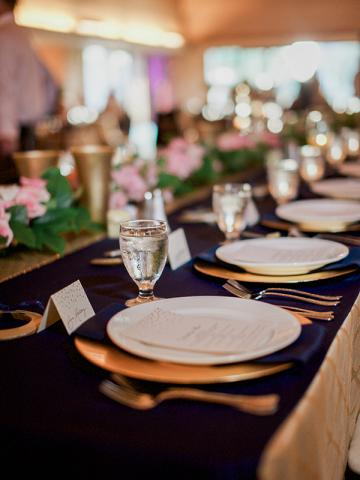 Keeneland Wedding table setting