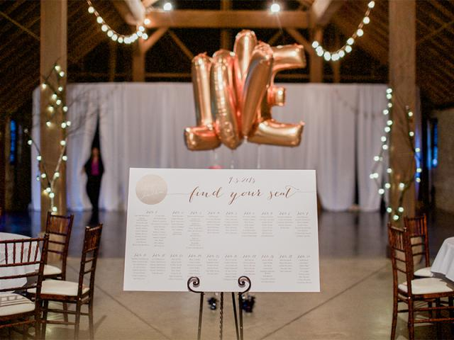 Keeneland Wedding Reception Decor