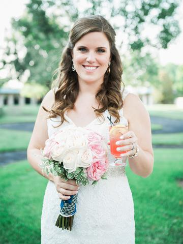 Kristen in Paddock Keeneland Wedding