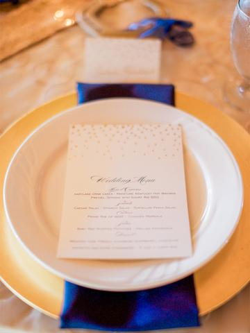 Keeneland Wedding place setting