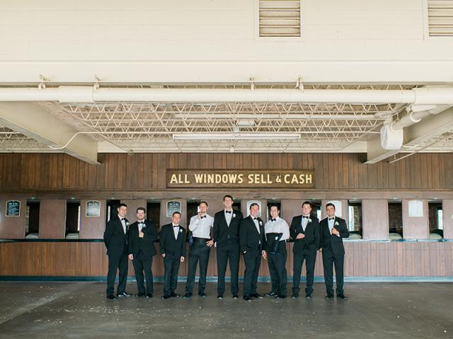 Nick's Groomsmen at Keeneland