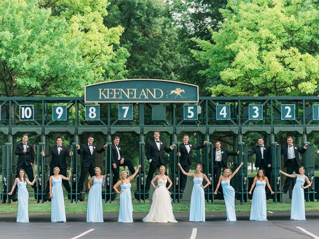 Abby's Bridal Party at Starting Gate