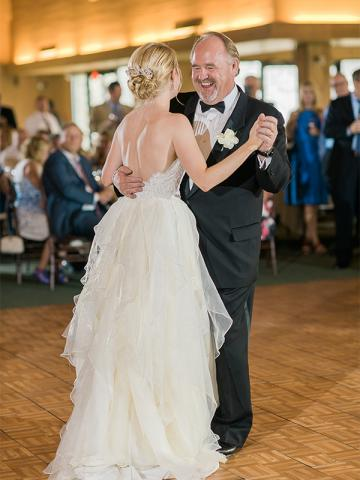 Abby Dancing at Keeneland Wedding