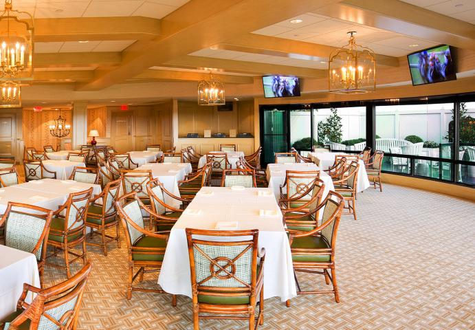 Example of Keeneland hospitality room