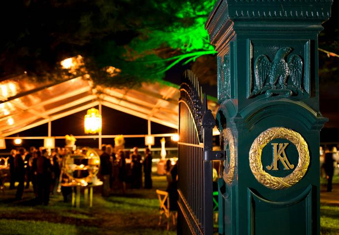 Night time view of Keeneland Fall Lawn Party