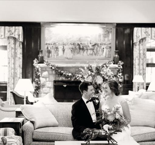 Couple In Keeneland Club Lobby