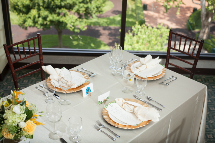 Place Setting in the Phoenix Room