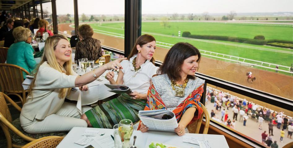 Watching the Races at Keeneland