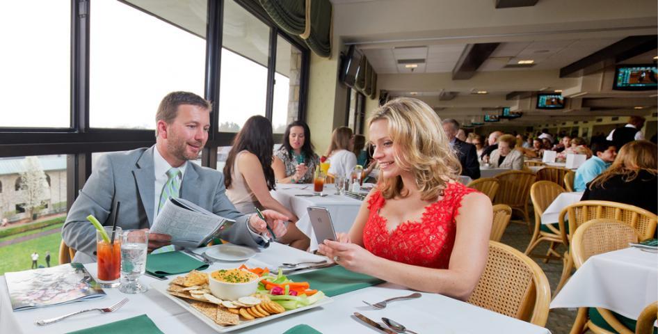 Couple Eating at Keeneland
