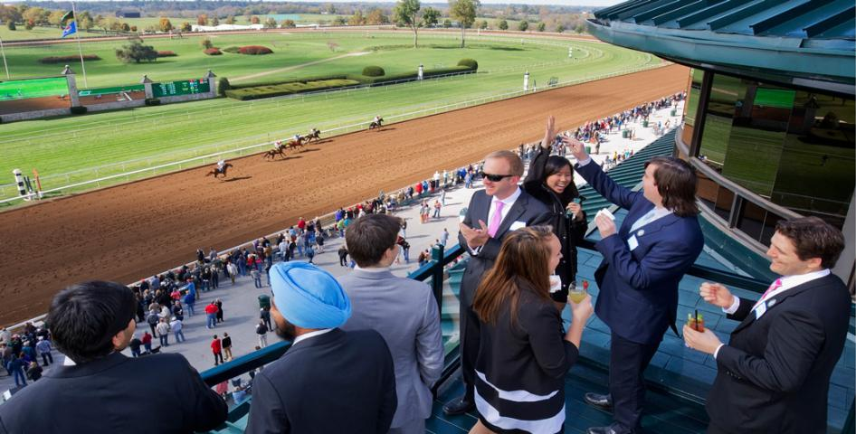 Patrons at Keeneland