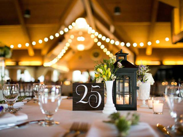 Decor at Keeneland Wedding