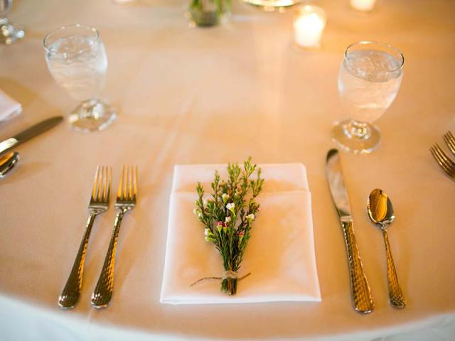 Place Setting at Keeneland Wedding