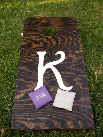 Keaton and Andrew's Keeneland Wedding Cornhole