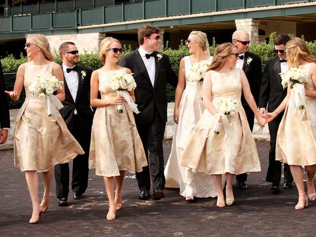 Adair &Clint's Bridal Party at Keeneland