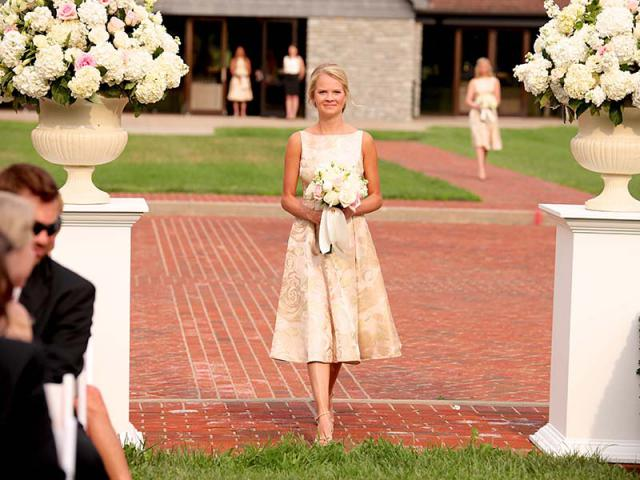 Bridesmaid at Keeneland Wedding