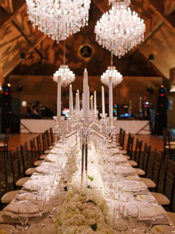 Table-scape at Wedding Reception