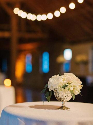 Centerpiece at Keeneland Wedding