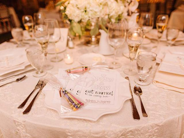 Table place setting at Keeneland Wedding