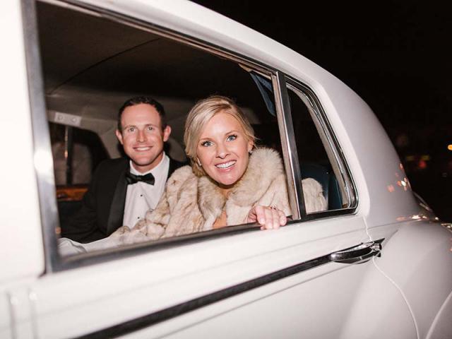 Brooke & Drew in car