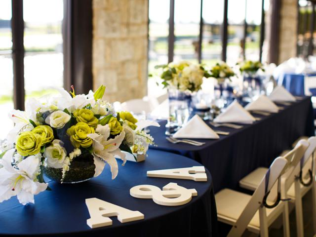 Bridal Party Reception Table Flowers