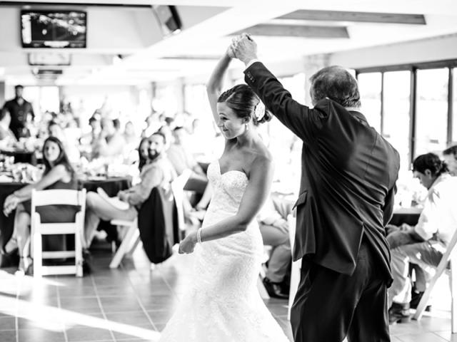 Amanda dancing with her father