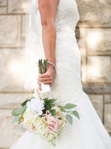 Mallory with Wedding Bouquet