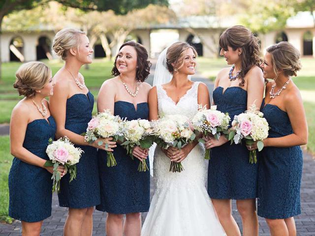 Mallory with bridesmaids
