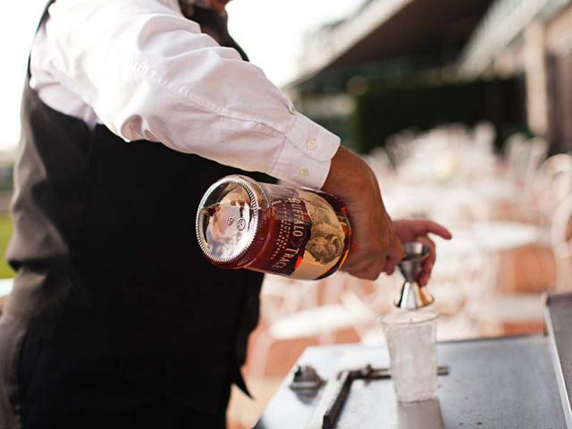 Pouring Drinks at Keeneland Wedding