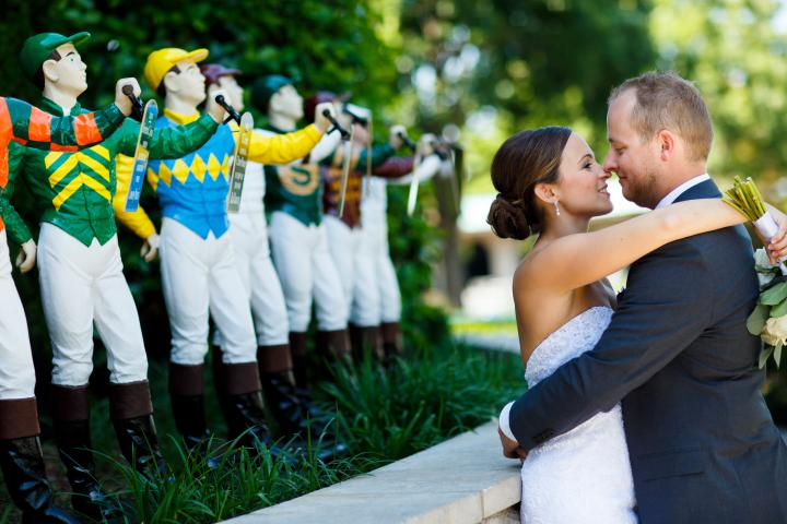 Keeneland Couple Jockey Garden