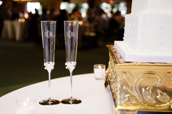 Champagne Flutes at Keeneland Wedding Reception